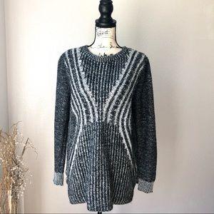 Mossimo Oversized  Sweater Black Gray Knit XL